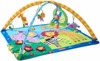 #2. Tiny Love Super-Deluxe Classic Animals Gymini Extra-Large Foldable Gym Play Mat
