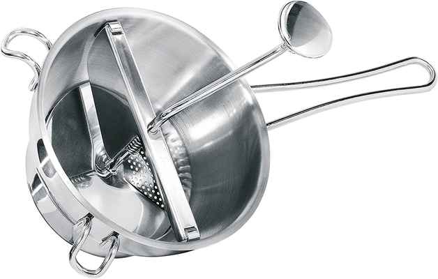 #5. GEFU Dishwasher-Safe Easy to Clean w/Removable Parts Stainless Steel Food Mill