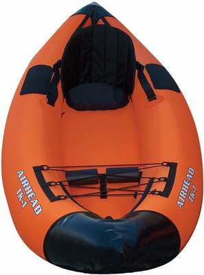 #4. Airhead Montana 1-Person 9-Foot Lightweight & Compact Water-Resistant Coating Inflatable Kayak