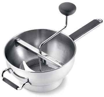 #8. Cuisipro Extra-Large 18/10 Stainless Steel Bowl Deluxe Food Mill w/Non-Slip Handles