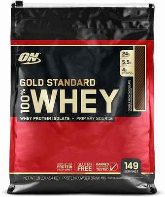 #2. Optimum Nutrition Gold Standard 100% Whey Protein Powder 10lbs Double Rich Chocolate