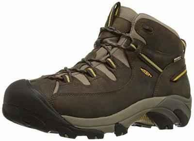 1. KEEN Waterproof Rubber Sole Low Profile Men's Targhee II Hiking Boots