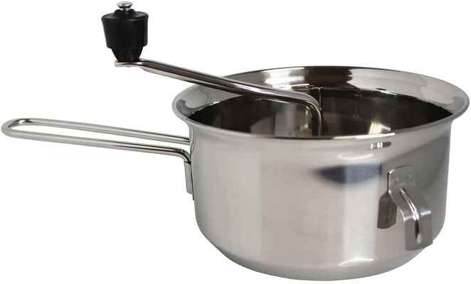 #4. Mirro 50024 2 Qt Silver Stainless Steel Foley Healthy Food Mill Cookware w/Easy to Turn Knob