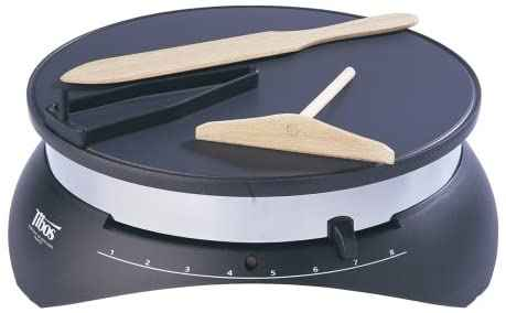 #10. Krampouz 13'' Silver Sturdy & Long-lasting High-Quality Tibos Electric Crepe Maker