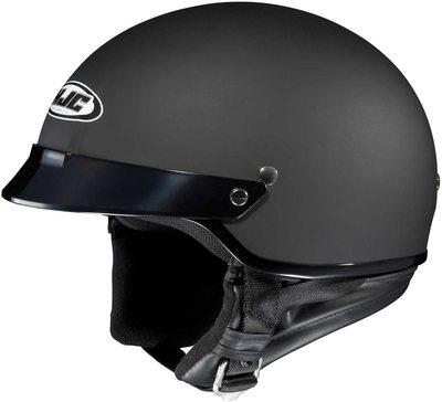#9. HJC Solid IS-Cruiser Half Shell Moisture-Wicking Nylex Interior Motorcycle Helmet (Matte Black, L)