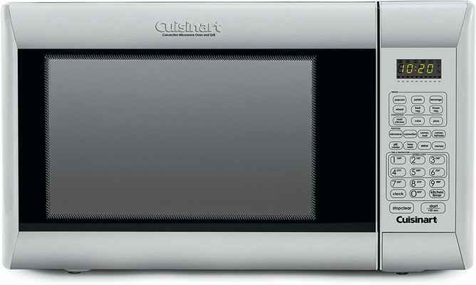 #9.Cuisinart CMW-200 1000W Stainless Steel (Brushed) Countertop Convection Microwave w/ Grill