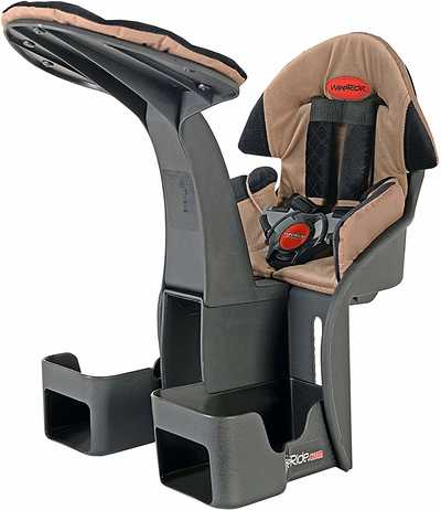 #2. WeeRide LTD Kangaroo Deluxe Safety Harness & Oversized Buckle Headrest Child Bike Seat