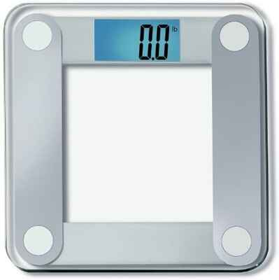 #4. EatSmart One-Size Clear Digital Weighing Bathroom Scale w/ Tape Measure & Lighted Display