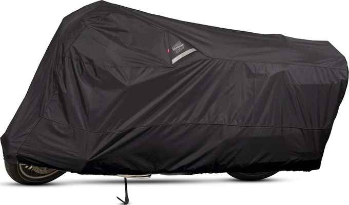 #4. Dowco XX-Large Waterproof Indoor/Outdoor Guardian 50006-02 Motorcycle Cover (Black)