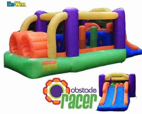 #3. KIDWISE Racer Challenge Bounce 19 Feet Competitive Obstacle Up to 400 lbs. 4 Kids