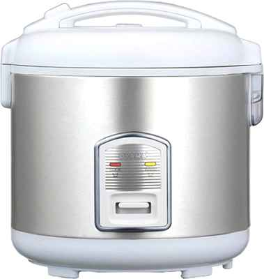 #6. Oyama CFS-F12W 7-Cup Stainless Steel Steamer Tray Keep Warm Rice Cooker (White)