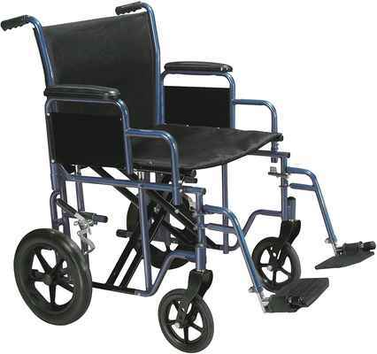 #10. Drive Medical Bariatric 22'' Seat Blue Swing-Away Footrest Heavy-Duty Transport Wheelchair