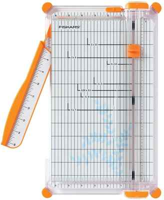#8. Fiskars Widest Base 6 ¼'' 152490-1004 12'' SureCut Deluxe Craft Guillotine Paper Trimmer