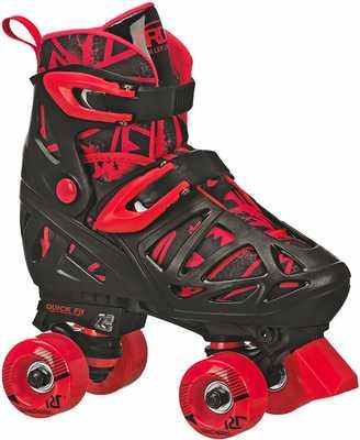 #1. Roller Derby EZ Push Button Adjustable Sizing Boy's Trac Star Washable Comfort Liner Roller Skates