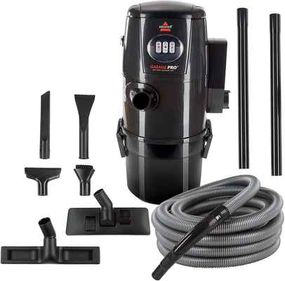#2. BISSELL 18P03-Grey Wall-Mounted Garage Pro Wet/Dry Car Vac With Tool Kit