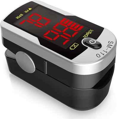 #9 Santamedical Lanyard & Batteries SpO2 OLED Dual Color Fingertip Pulse Oximeter