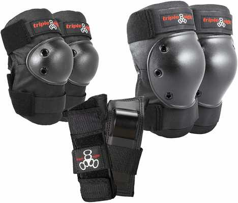 #10. Triple Eight Saver Series Pad Set Convenient Knee savers, Elbow savers, & Wrist savers Kit