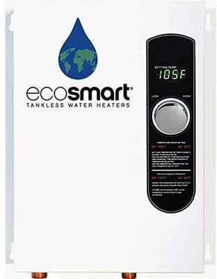 #9. Ecosmart Self-Modulating Technology 18KW 240V ECO Tankless Water Heater (White)