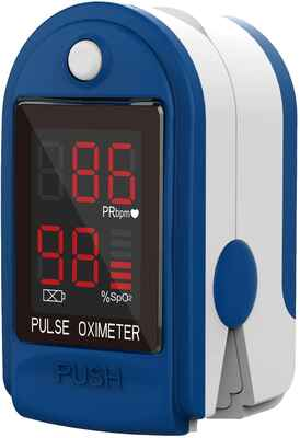 #1 ClinicalGuard CMS-50DL Accurate Fingertip Pulse Oximeter w/Wrist Cord Heart Monitor