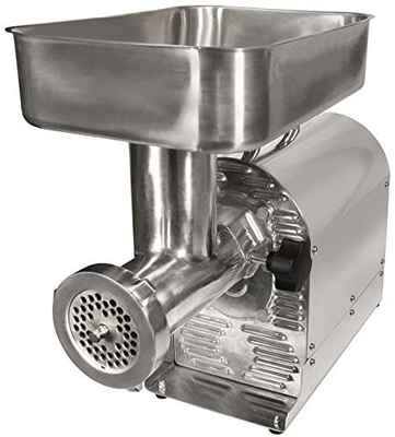 #1. Weston 08-1201-W ¾ -HP 550W Series Sturdy Handle Durable Electric Meat Grinder (Silver)