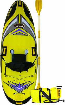 #6. Rave Sports Rave Sea Rebel Lightweight Portable & Durable Cover Inflatable Kayak w/ Paddles