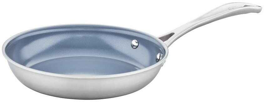 #4. ZWILLING J.A HENCKELS Stainless Steel 8'' Ceramic Non-Stick Professional Fry Pan