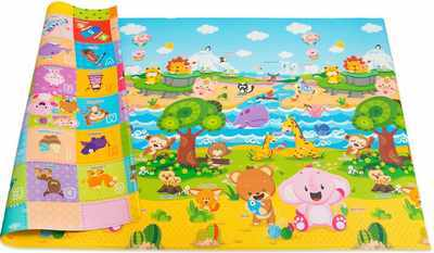 #10. Baby Care Non-Toxic Reversible Waterproof Large Pingko Baby Play Mat