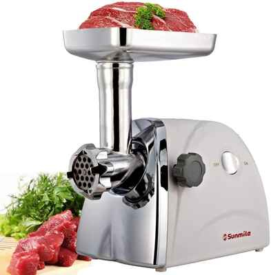 #7. Sunmile 1 HP 800W SM-G31 Stainless Steel Cutting Blade ETL Electric Meat Grinder