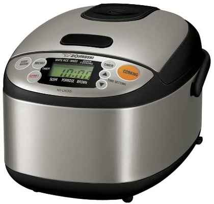 #2. Zojirushi 3-Cup Micom Stainless Steel Warmer Rice Cooker (Black) - NS-LACO5XT