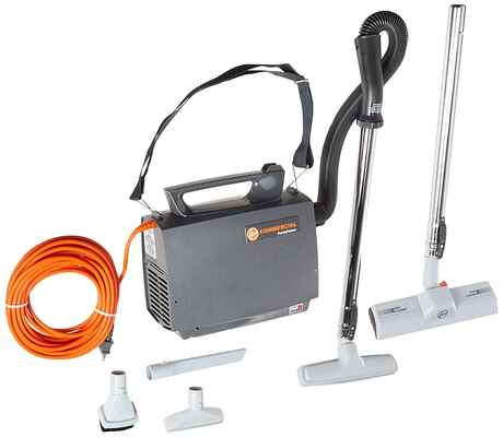 #9. Hoover CH3000 Lightweight PortaPower Built-in Blower Commercial Canister Vacuum (Orange)
