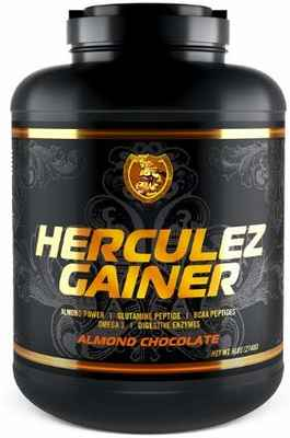 #6. Herculez Gainer Highest Quality 6lbs Almond Chocolate Flavor 3 Nutritional Component Mass Gainer