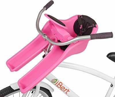 #4. IBert Center Mounted Sturdy & Reliable UV Inhibitor Child Bicycle Safe T-Seat (Red, Pink & Green)
