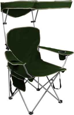 #6. Quik Shade Quality Fabric Supportive Patented Design Adjustable Canopy Folding Camp Chair