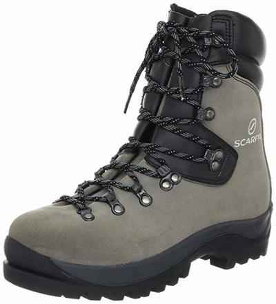 3. SCARPA Fuego 100% Leather Vibram Sole Classically-Styled Tall Cuff Mountaineering Boots