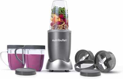 #2. NutriBullet NBR-1201 12-Pcs High-Speed 600W BPA-free Juice Blender Mixer System