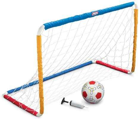#4. MGA Entertainment Little Tikes Heavy-Duty Construction Soccer Goal Set w/ Pump Ball & Net