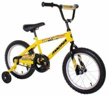 #8. Dynacraft Magna BMX 16'' Pad Removable Training Wheels Boy's Balance Bike