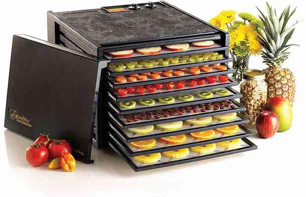#2. Exalibur 3926TB 9 Tray Temperature Settings Auto-Timer Efficient Food Dehydrator (Black)