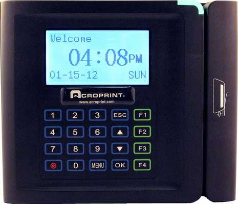 #10. Acroprint TimeQplus Magnetic Stripe Attendance System Time Clock for Small Business