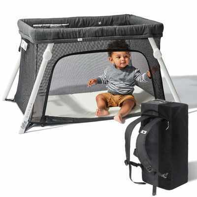 #5. Guava Family Lotus Travel Crib Lightweight Portable Easy to Pack Baby Playard