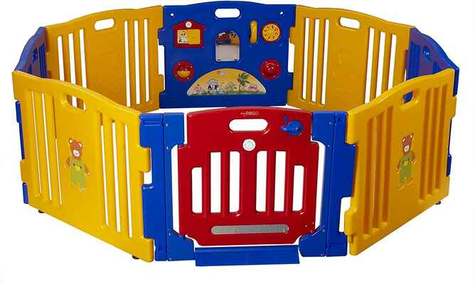 #8. Baby Diego High-Quality Design Cub'Zone Baby Playpen & Activity Center (Blue/Yellow/Red)