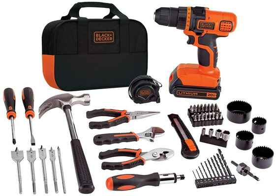 #8. BLACK + Decker LDX120PK Black/Orange 68 Pcs 32 Screwdriver Bits Home Tool Kit