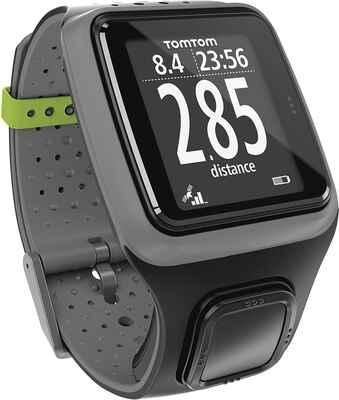#8. Tomtom Grey Glass 1.88'' Ultra-Slim Lightweight Waterproof Runner GPS Watch