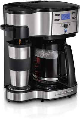 #6. Hamilton Beach 49980A 12-Cup Pot Stainless Steel Carafe 2-Way Brewer Coffee Maker