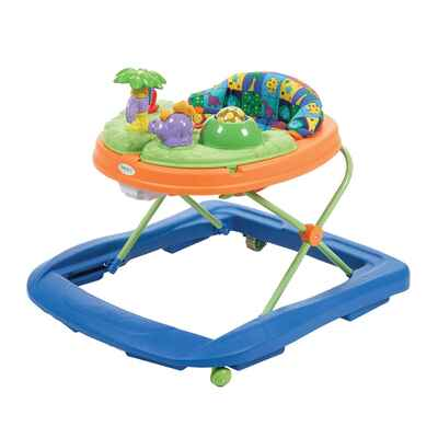 #10. Safety Dino 'N Lights Compact Adjustable Height Discovery Baby Walker w/Activity Tray