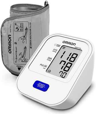 #8. Omron HEM 7120 One-Touch Operation Upper Arm Automatic Blood Pressure Home BP Monitor