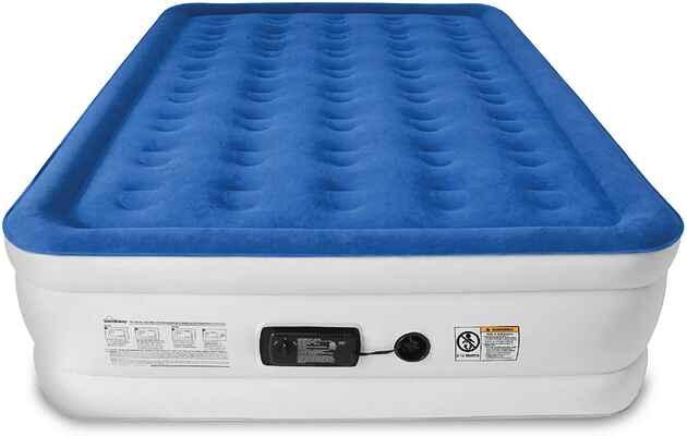 #2. SoundAsleep Comfort Coil Tech Internal High Capacity Pump Air Mattress (Queen Size)