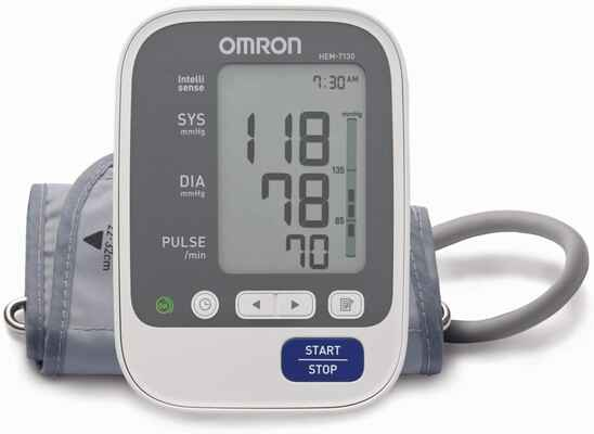 #9. Omron B.P. Hem 7130-L Unlimited Memory w/Free App Easy to Use Blood Pressure Monitor