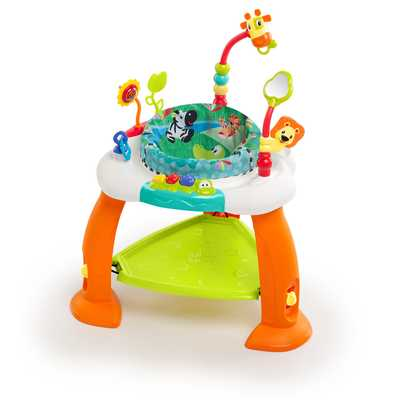 #8. Bounce Bounce Baby by Bright Starts Adjustable Height Seat Spins 360-Degrees Activity Center.