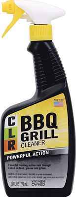#1. CLR 26 Oz. Non-Toxic Multi-Purpose Fast & Efficient Spray Bottle BBQ Grill Cleaner